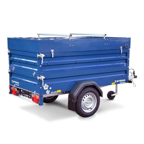 Stema - BLUE MAN 850 Campinganhänger mit Bordwandaufsatz & Deckel