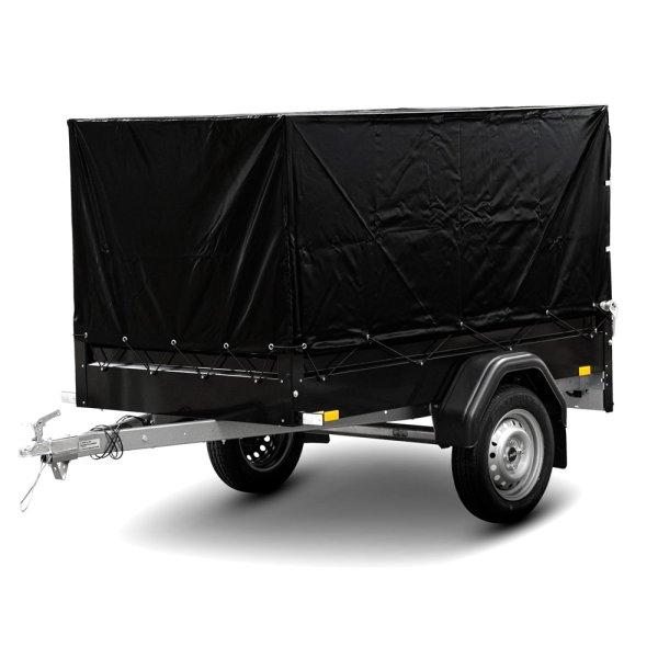 STEMA FT 7.5-20-10.1B - Pkw Anhänger Black Edition mit Hochplane schwarz und Spriegel 80 cm
