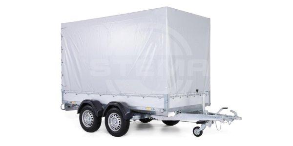 Stema STL 2000 O2 20-30-15.2 - SySTEMA light - Pkw Anhänger Tandem mit Plane grau und Spriegel 150 c
